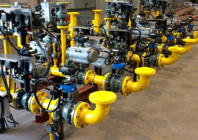Pre-assembly of skid natural gas burners