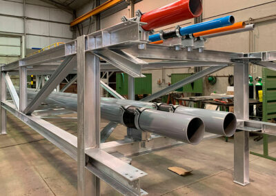 Modular pipe rack system for reception refinery terminal